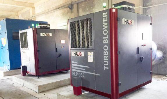 HAUS'tan Yüksek Verimli Turbo Kompresörler