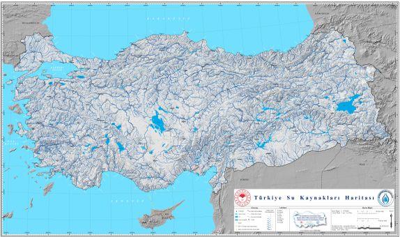 Türkiye Su Kaynakları Haritası Yayında