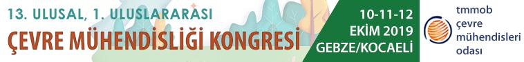 Çevre Mühendisliği Kongresi | 10-11-12 Ekim 2019 | Gebze/Kocaeli
